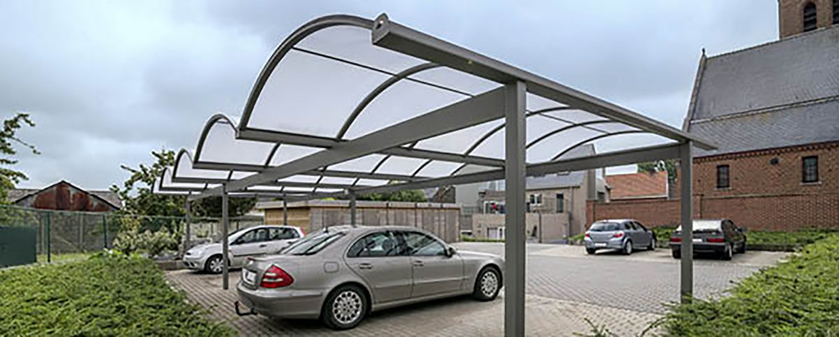 Covered parking area