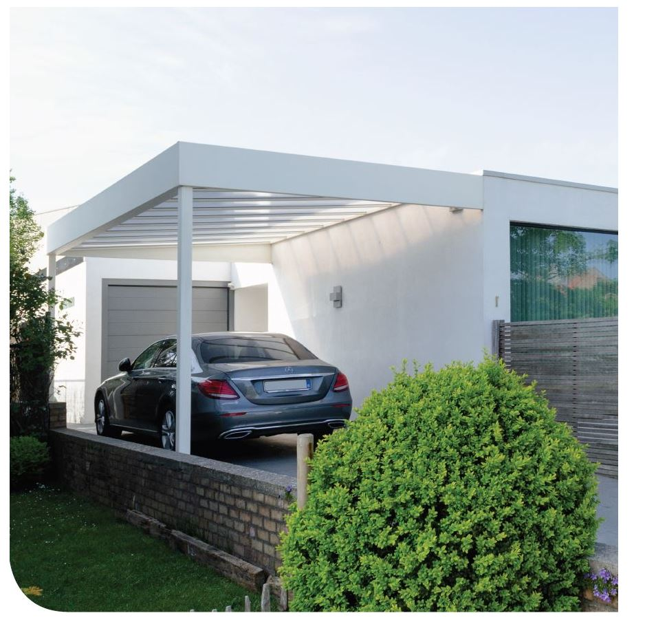 Carport of Terrasoverkapping | RAL 5009 | Stockdeal | Nearly New