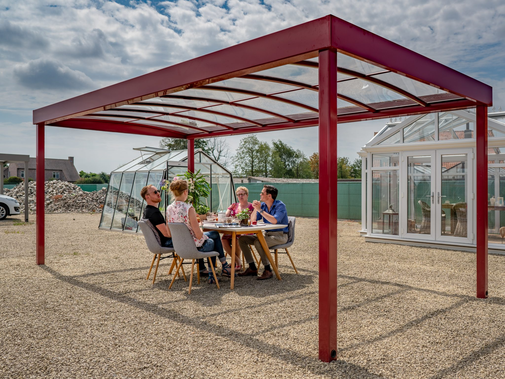 Carport of Terrasoverkapping Arc Designed| RAL 3004 | STR | Stockdeal | Nearly New